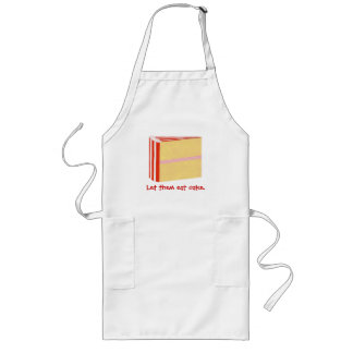 Yellow cake Red Icing Let them eat cake aprons