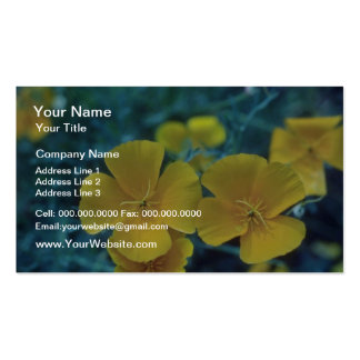 yellow California Poppy (Eschscholzia Californica) Pack Of Standard Business Cards