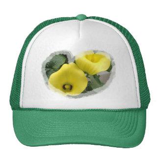 Yellow Calla Lilies and Hearts Cap