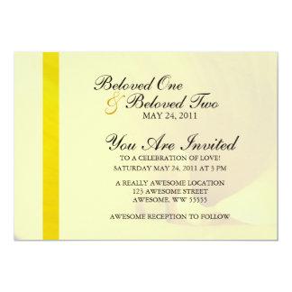 Yellow Calla Lily Flower 13 Cm X 18 Cm Invitation Card