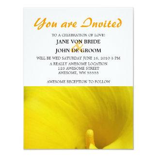 Yellow Calla Lily Flower 11 Cm X 14 Cm Invitation Card