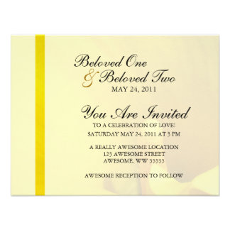 Yellow Calla Lily Flower Personalized Invite