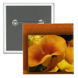 Yellow calla lily pinback buttons