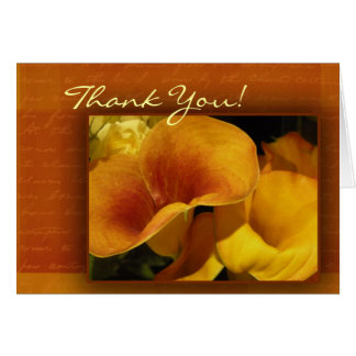 Yellow calla lily Thank you Card! Greeting Card