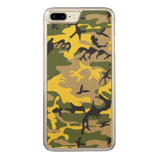 Yellow Camouflage Carved iPhone 8 Plus/7 Plus Case