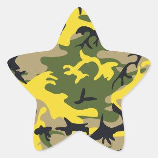 Yellow Camouflage Sticker