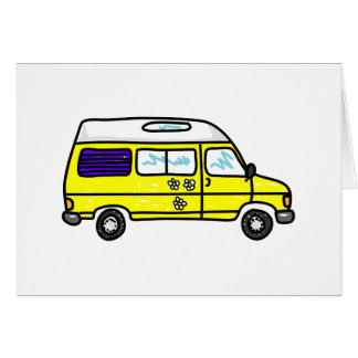 Yellow Campervan Greeting Card