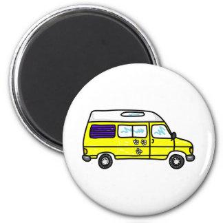 Yellow Campervan Magnet