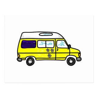 Yellow Campervan Postcard