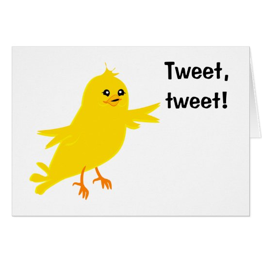 Yellow Canary Card