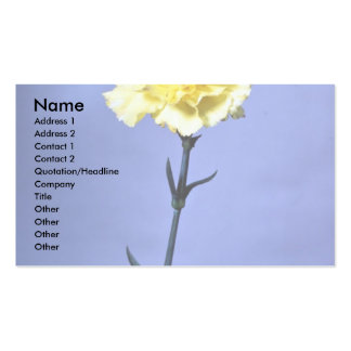 Yellow carnation business card template