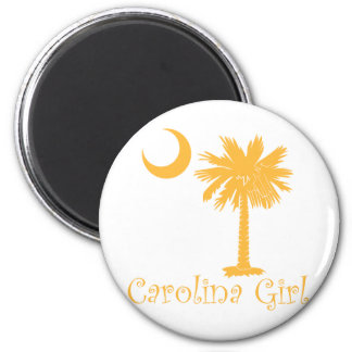 Yellow Carolina Girl Palmetto Magnet