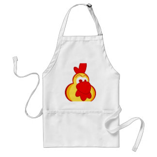 yellow cartoon cartoon rooster face standard apron