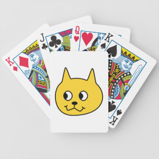 Yellow Cartoon Cat. Bicycle Playing Cards