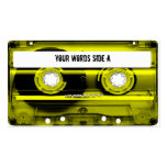 Yellow Cassette Tape Personalised Pack Of Standard Business Cards