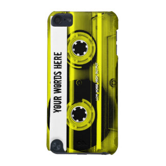 Yellow Cassette Tape Personalized iPod Touch (5th Generation) Covers