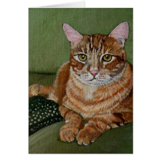 Yellow Cat Greeting Card