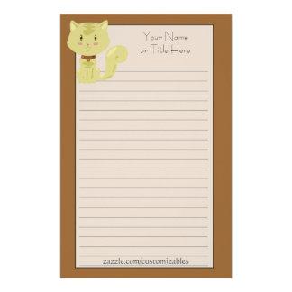 Yellow Cat Stationery