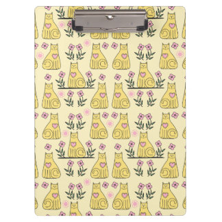 Yellow Cats Clipboard