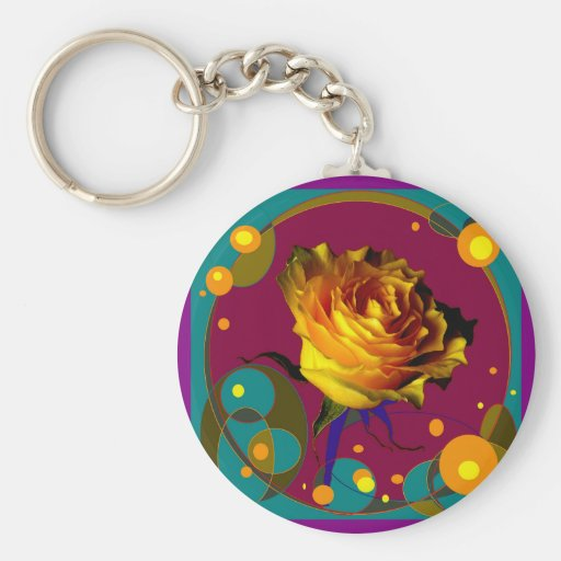 Yellow Celebration Rose Gifts By Sharles Key Chains