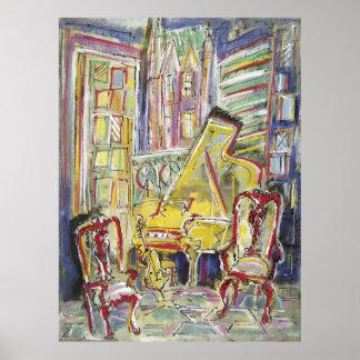 Yellow, Cello, Mellow Poster