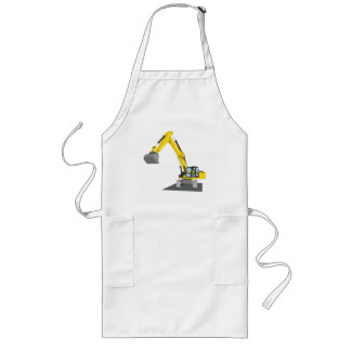 yellow chain excavator long apron