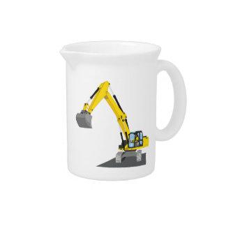 yellow chain excavator pitcher