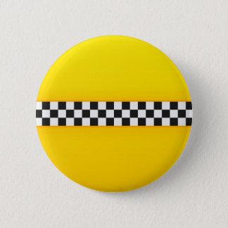 Yellow Checkerboard Pattern 6 Cm Round Badge