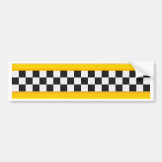 Yellow Checkerboard Pattern Bumper Sticker