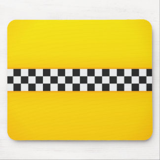 Yellow Checkerboard Pattern Mouse Mat