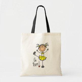 Yellow Cheerleader Tshirts and Gifts Canvas Bags