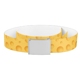 Yellow Cheese Pattern Belt