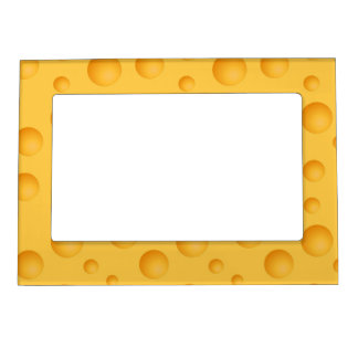 Yellow Cheese Pattern Magnetic Frame