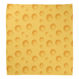 Yellow Cheese Pattern Bandannas