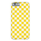 Yellow Chequerboard Barely There iPhone 6 Case