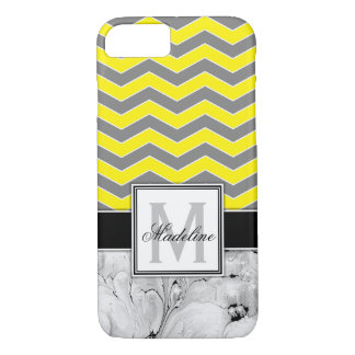 Yellow Chevron and Marble Monongram Mobile iPhone 8/7 Case