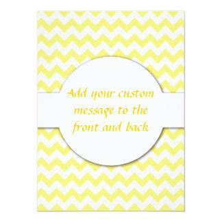 Yellow Chevron Design 14 Cm X 19 Cm Invitation Card