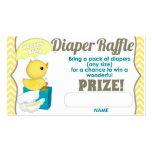 Yellow Chevron Ducky Diaper Raffle Tickets 100pk Pack Of Standard Business Cards