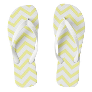 Yellow Chevron Flip Flops