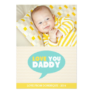 Yellow Chevron Love You Daddy Father s Day Card