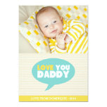 Yellow Chevron Love You Daddy | Father's Day Card 13 Cm X 18 Cm Invitation Card