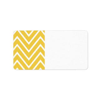 Yellow Chevron Pattern 2 Address Label