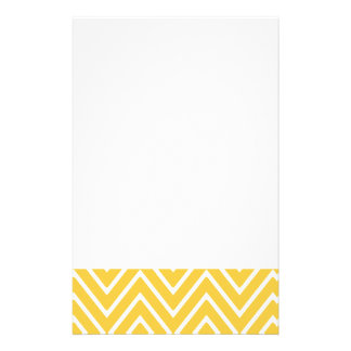 Yellow Chevron Pattern 2 Personalized Stationery