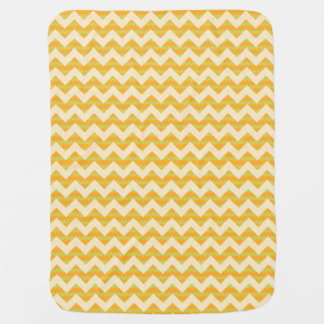 Yellow chevron pattern baby blanket