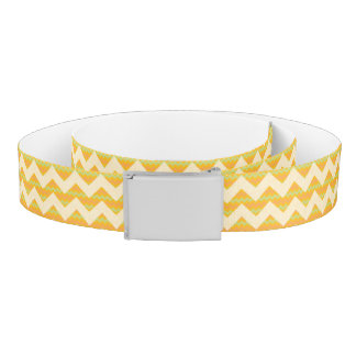 Yellow chevron pattern belt