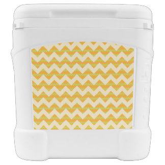 Yellow chevron pattern cooler