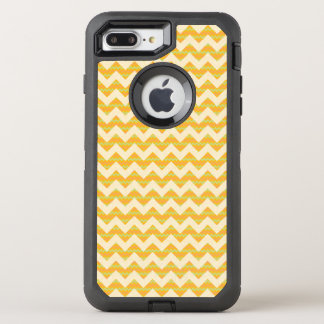 Yellow chevron pattern OtterBox defender iPhone 8 plus/7 plus case