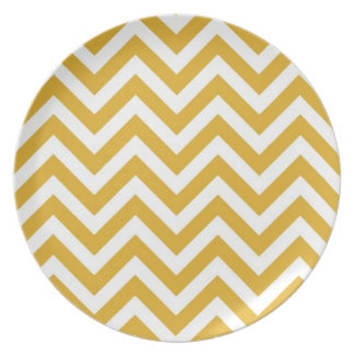 Yellow Chevron Plate