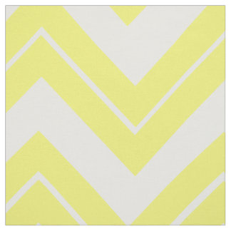 Yellow Chevron Print Fabric Material