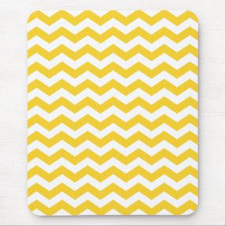 Yellow Chevron Stripes Mouse Pad